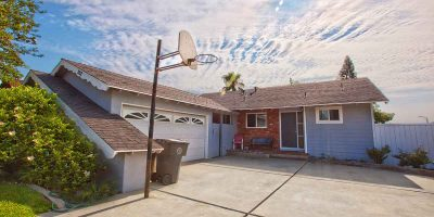 Keystone I House back driveway - Keystone Sober Living - Costa Mesa California SLE