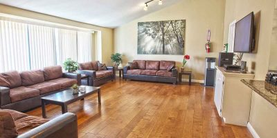 Keystone II house living room - Keystone Sober Living - SLE in Costa Mesa California
